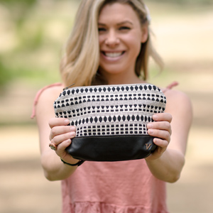 Black and White Cosmetic Bags