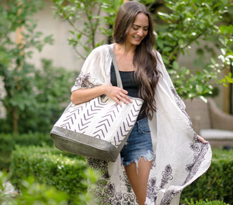 Mud Cloth Tote Bags