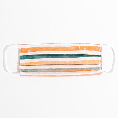 Cotton Face Mask - fall stripes