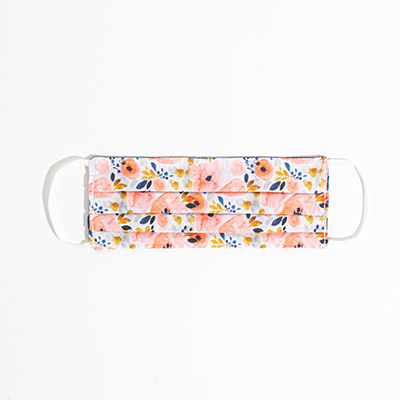 Kids Cotton Face Mask - peach blossoms