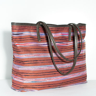 Ravenna Bag - purple stripe