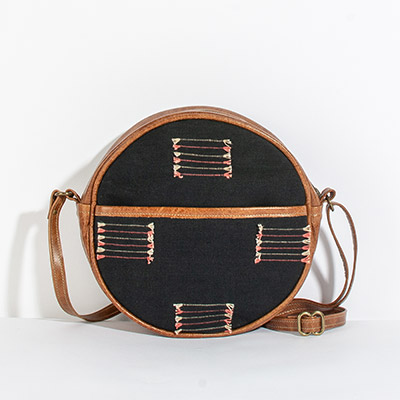 Monaco Circle Bag - black arrows