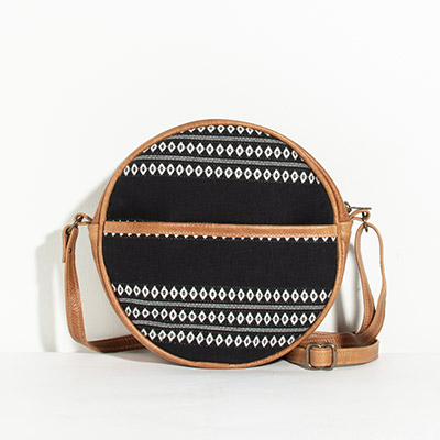 Monaco Circle Bag - black diamond