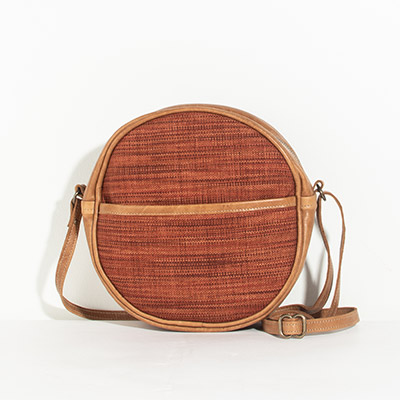Monaco Circle Bag - bonfire lines