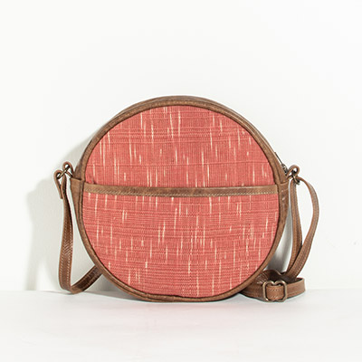 Monaco Circle Bag - blurred paprika
