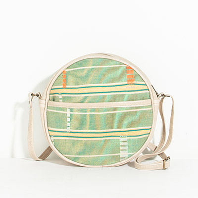 Monaco Circle Bag - citrus tribal