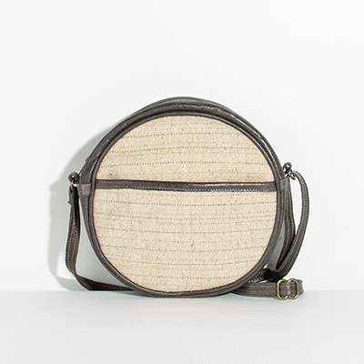 Monaco Circle Bag - cream solid