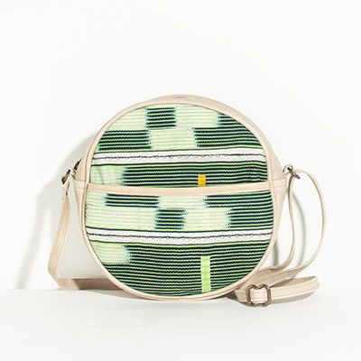 Monaco Circle Bag - emerald tribal