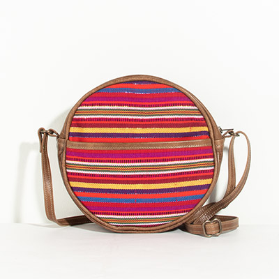 Monaco Circle Bag - fairy stripe