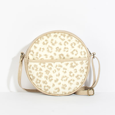 Monaco Circle Bag - neutral leopard
