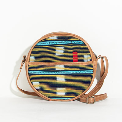Monaco Circle Bag - pineapple tribal