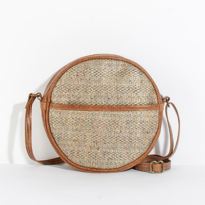 Monaco Circle Bag - rainbow latte