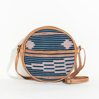 Monaco Circle Bag - rose tribal
