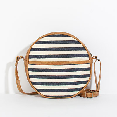 Monaco Circle Bag - sailor stripes