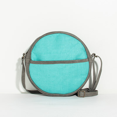 Monaco Circle Bag - bright turquoise