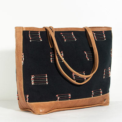 Vienna Tote - black arrows