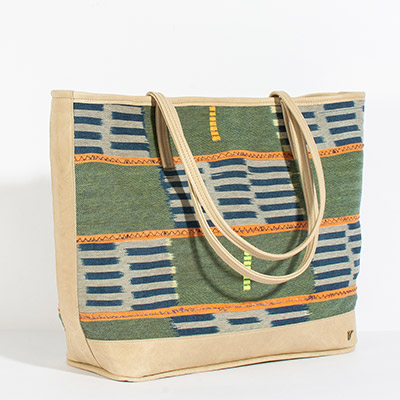 Vienna Tote - carnation tribal
