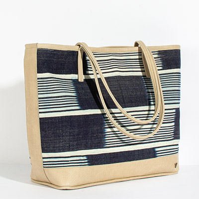 Vienna Tote - deep blue tribal
