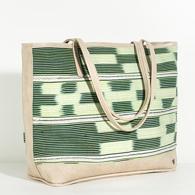 Vienna Tote - emerald tribal