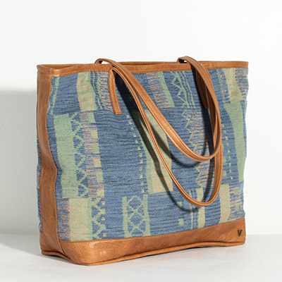 Vienna Tote - earthy lines