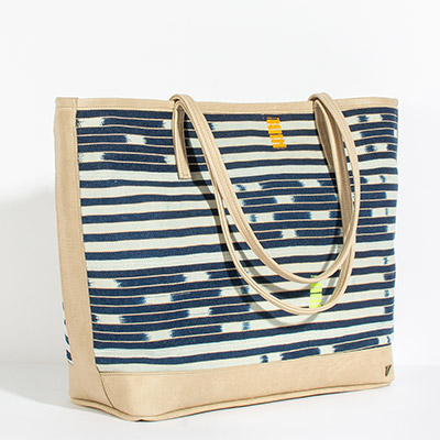 Vienna Tote - natural tribal