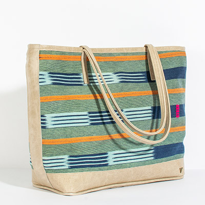 Vienna Tote - poppy tribal