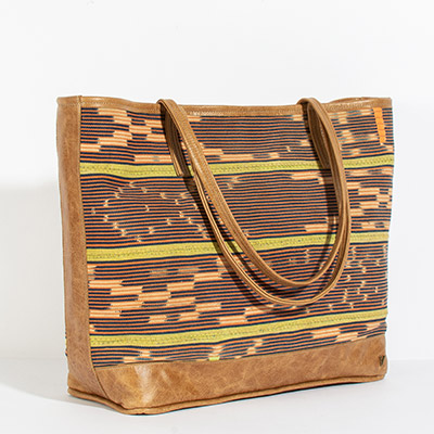 Vienna Tote - sunglow tribal