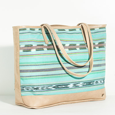 Vienna Tote - tribal sea