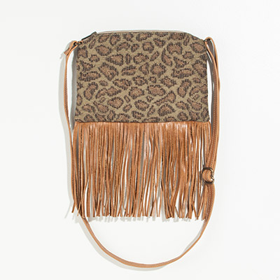 Florence Crossbody Clutch - faded leopard
