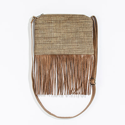 Florence Crossbody Clutch - latte lines