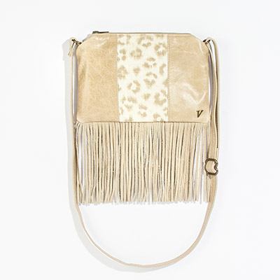 Florence Crossbody Clutch - neutral leopard