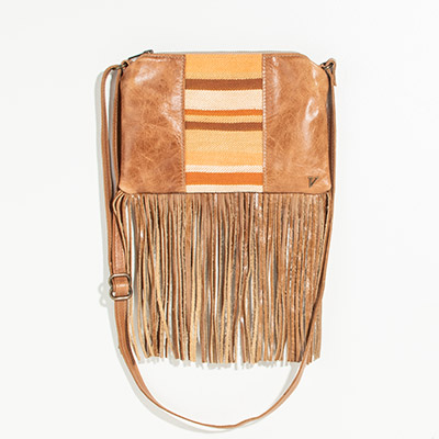 Florence Crossbody Clutch - sun kissed stripes