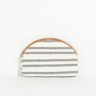 Cabo Clutch - indigo stripes