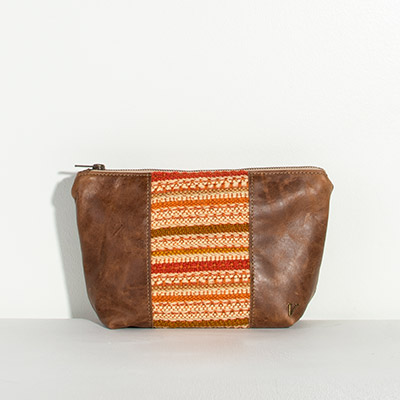 Ibiza Cosmetc Bag - autumn stripe
