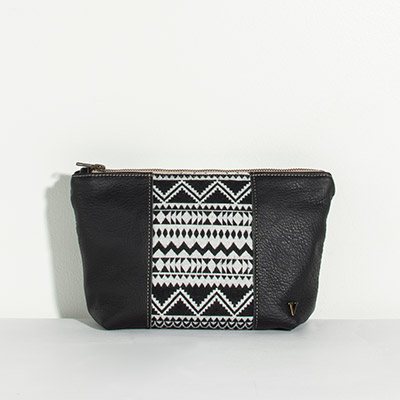 Ibiza Cosmetc Bag - black and white tribal