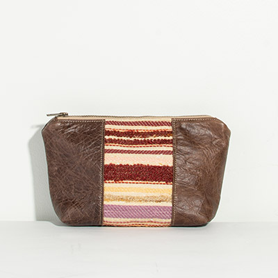 Ibiza Cosmetc Bag - muted jewel stripe