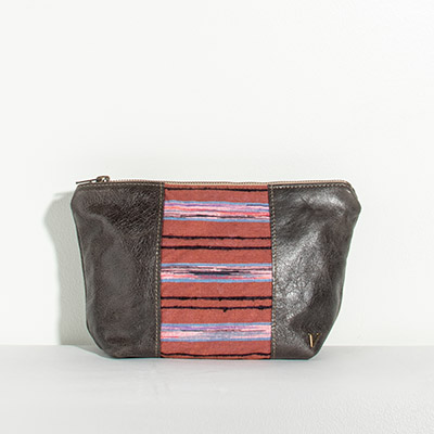 Ibiza Cosmetc Bag - purple stripe
