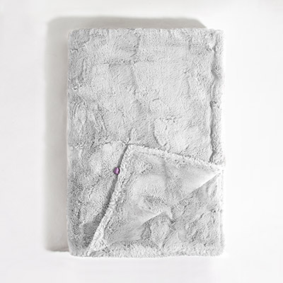 Luxe Throw Blanket - crushed silver