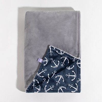 Dreamy Baby Blanket - grey/in the navy
