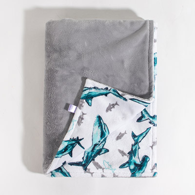 Dreamy Baby Blanket - baby shark