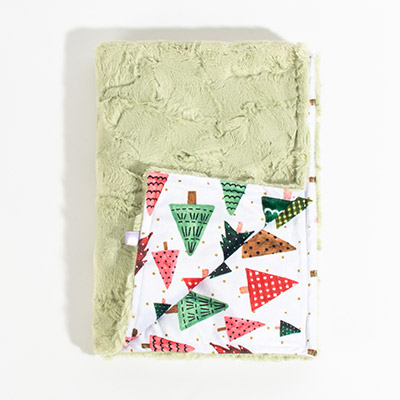 Dreamy Baby Blanket - festive forest