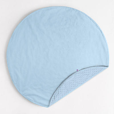 Round Dreamy Blanket - baby blue/baby blue dot