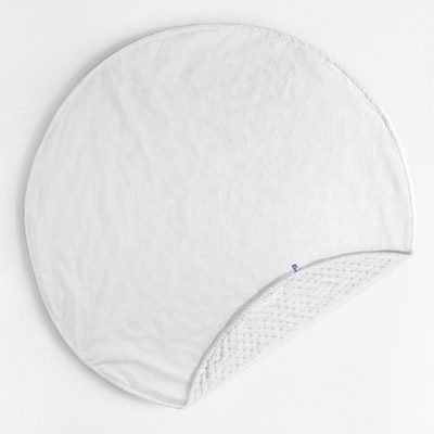 Round Dreamy Blanket - white/white dot