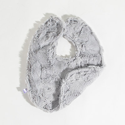 Dreamy Bib - crushed silver