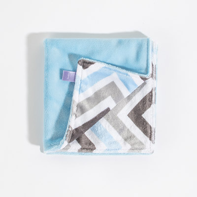 Lil Dreamy Lovie - baby blue/baby blue silver chevron