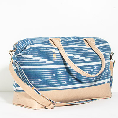 Tuscany Weekender - denim tribal