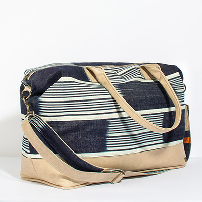 Tuscany Weekender - deep blue tribal