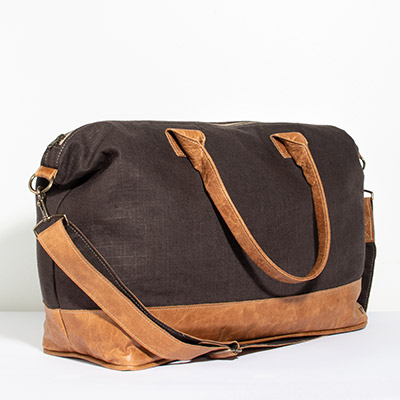 Tuscany Weekender - espresso linen