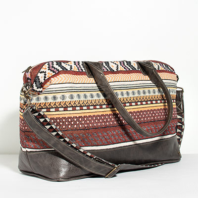 Tuscany Weekender - lilac tribal
