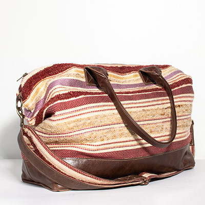 Tuscany Weekender - muted jewel stripe
